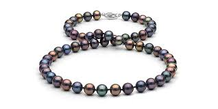 jewelry black pearl necklace images Black freshwater pearl necklace 7 5 8 0mm jpg