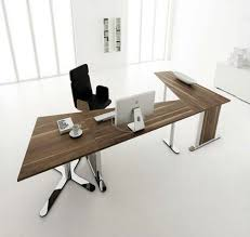 Wall Mounted Office Desk Office Table Design Rectangle Shape Black Color Wooden Table