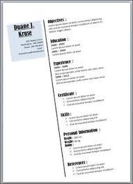 Resume Templates In Microsoft Word Creative Elegant Resume Template Microsoft Word Downloadable