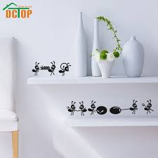 online get cheap wall decals kitchen aliexpress com alibaba group dctop 8 ants move house funny wall stickers home decor creative stickers adhesive vinyl wall decals