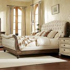 California King Sleigh Bed Rhapsody California King Size Tufted Sleigh Bed With Exposed Wood