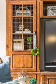 glass cabinet doors for entertainment center how i gave my entertainment center a makeover without paint