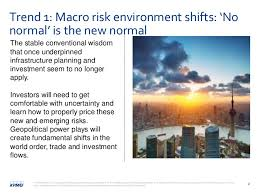 Comfortable With Uncertainty Emerging Trends In Infrastructure 2016 James Stewart Kpmg Uk