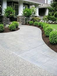 impressive concrete front yard stylish 8 front yard concrete ideas