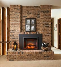 greatco 29 in electric fireplace insert u0026 42 in flush mount