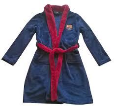 robe de chambre garcon robe de chambre peignoir fc barcelone officiel enfant bleu ne garcon