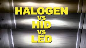 xenon vs led under cabinet lighting halogen vs hid vs led youtube