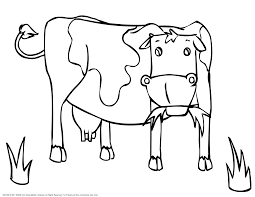 cow coloring pages cow jumped over the moon coloring pages u2013 kids