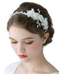 wedding hair bands sweetv handmade pearl wedding headband for women