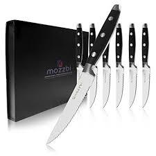 laser kitchen knives steak knives 6 cutlery set by mozzbi laser cut