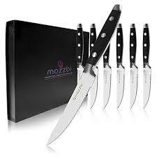 laser kitchen knives amazon com steak knives 6 cutlery set dinner knives gift set