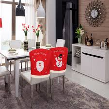 Kitchen Chair Covers Aliexpress Com Buy 2 Pieces 49cmx55cm Christmas Kitchen Chair