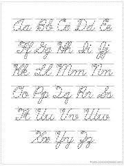 25 unique cursive alphabet chart ideas on pinterest cursive