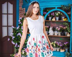 white linen dress etsy