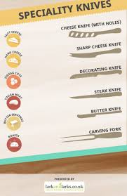 infographic 21 different types of kitchen knives and what they re by lark and larks