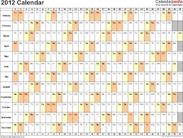 Excel Monthly Calendar Template 2012 Calendar Excel 10 Free Printable Templates Xls Xlsx