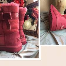 s ugg australia josette boots ugg ugg josette sangria suede bow boots from s closet on