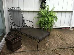 Wrought Iron Patio Chaise Lounge 2 Vtg Meadowcraft Adjustable Metal Mesh Chaise Lounge Chair In