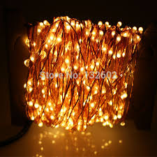 30m 300 led outdoor lights warm white copper wire