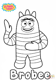 yo gabba gabba coloring pages coloring page