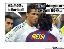 Funny Messi Memes - ronaldo and messi by istike11 meme center