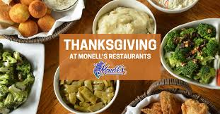 thanksgiving day celebration open hours menu monells restaurants