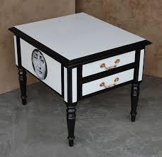 black and white side table kansas city faux finishing interior design