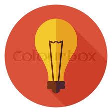 Flat Light Bulb Flat Design Creative Idea Lamp Light Bulb Business Vector