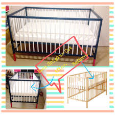 Ikea Mini Crib by Ikea Crib Painted Black 35 Craigslist Find For 2 0 Will Work