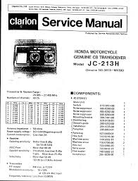 service manual for honda clarion cb transceiver 4 stroke net
