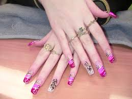 these 13 pink acrylic nail designs easily sweeten up your look