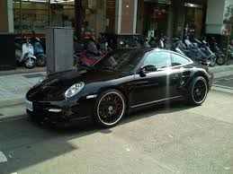 porsche black black porsche 997 turbo with black rims 3 madwhips