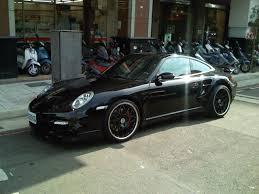 porsche black black porsche 997 turbo with black rims 3 madwhips