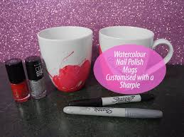Gift Mugs With Candy Watercolor Mugs Using Nail Polish Diy Gift Idea Youtube