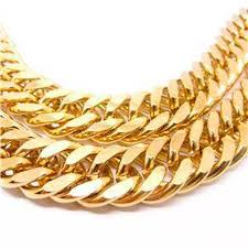 curb link necklace images Massive mens necklace yellow gold filled solid cuban double curb jpg