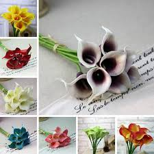 calla colors new calla lilly flowers silk plastic artificial bouquets