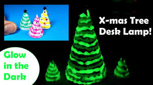 diy miniature christmas tree desk lamp glow in the dark