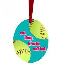 softball ornaments