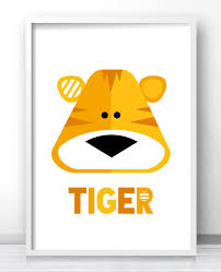Art Kids Room Tiger Kids Room Wall Art Kids Printables Animal Kids Tiger