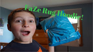 limited edition faze rug hoodie unboxing maroon youtube