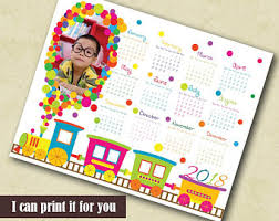 printable wall 2018 calendar with hand painted watercolor