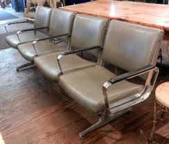 google chairs set of four retro style airport waiting area chairs waiting