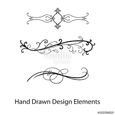 wedding design vector design element beautiful fancy curls and swirls divider or