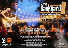 the backyard grand opening night with hanna trigwell qatar