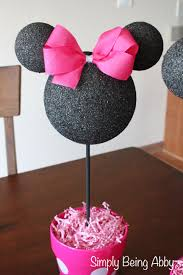 minnie mouse centerpiece decorations u2013 simply being abby
