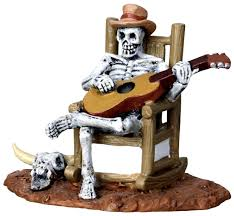 lemax halloween houses amazon com lemax spooky town rocking chair skeleton 22003 home