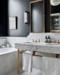 blue and black bathroom ideas lovely bathroom with marble black contrast wall and gold