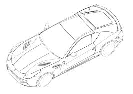 ferrari logo sketch ferrari ff coupe patent drawings photo gallery autoblog