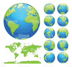 World Map Globe by Globes Showing Earth With All Continents Digital World Globe