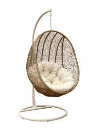 lamport swinging egg chair by abbyson light brown and beige